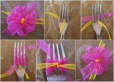 como hacer flores con lazo