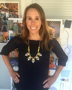 Our new collection is here & available to our Stylists! How cute does Chief Creative Office @blythe.harris look in the brand new Pavilion necklace? #stelladotstyle