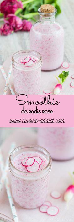 Un smoothie tout doux à base de radis rose