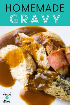 Our Gravy is just the best thing to put all over any roast dinner. #gravy #homemade