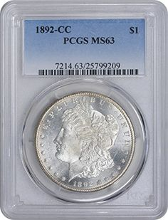 1892 CC Morgan Dollar MS63 PCGS >>> You can find more details by visiting the image link.