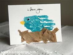 Mothers Day Handprint Card DIY idea