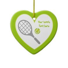 Tennis racket and ball custom christmas tree ornament. #tennis, #ball, #racket, #tennisgifts, #Christmasornaments, #ornaments See more tennis gifts here http://www.zazzle.com/sports_gifts/products/cg-196181571095549222?rf=238228936251904937&CMPN=zBookmarklet