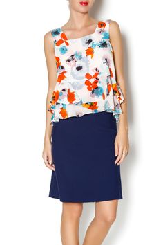 This floral, flouncy crop top is exactly what love about Rebecca Taylor-- not too cropped and with ruffles in the right places to make the fit perfect and romantic.   Flowerpress Crop Top by Rebecca Taylor. Clothing - Tops - Sleeveless Clothing - Tops - Crop Tops New York City