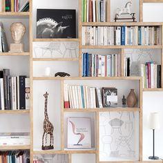 white + natural + shelves