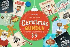 Christmas Bundle – 100 Vector Illustrations