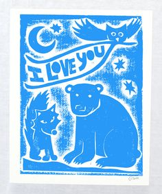 Look what I found on #zulily! 'I Love You' Print by Raw Art Letterpress #zulilyfinds