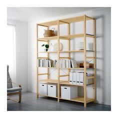 IVAR 2 sektioner/hylder IKEA til 1520 kr. Mål: 174x50x226 cm