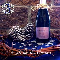 """To celebrate a great year we're toasting with a days of Christmas"""" giveaway! We will feature one Blue Mountain wine or gift for each of the next 12 days along with the perfect holiday occasion to enjoy them or ideas on who to share them with. Christmas Giveaways, 12 Days Of Christmas, Blue Mountain, Bottle, Holiday, Blog, Gifts, Vacations, Presents"""