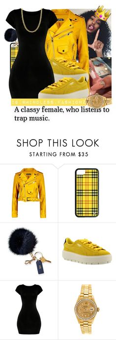 """"""" B&Y """" by leonnaw ❤ liked on Polyvore featuring Boohoo, Mark & Graham, Puma and Fremada"""