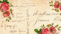 Old Roses postcard 1