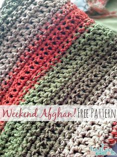 Fast and Easy Crochet Throw (2 Stripe Options) - We bet you can work this up over the weekend! #easycrochet