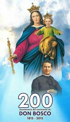 Maria Auxiliadora y San Juan Bosco