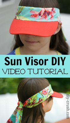 67363f15e86 Easy to make sun visor DIY. Watch the video! Diy Sewing Projects