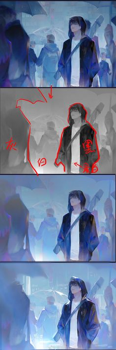 Digital Painting Tutorials, Digital Art Tutorial, Art Tutorials, Art Sketches, Art Drawings, Art And Illustration, Wie Zeichnet Man Manga, Drawing Reference Poses, Art Studies