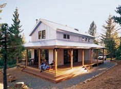 Farmhouse With Wrap Around Porch | David Wright, Architect Solar Environmental Architecture Group