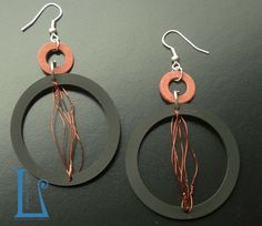 FLAME.Hydraulic seals and copper wire.  Handmade by BarlumeManod'Opera.