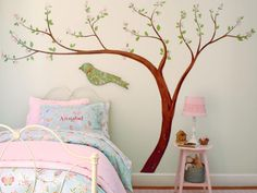 Bring in a gorgeous nod to nature with a sweet and playful wall decal for your child's bedroom.