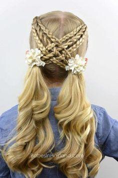 Cute Hairstyles For Little Girls - Nails, Toenails, Hair, Tattoo art, Trends!