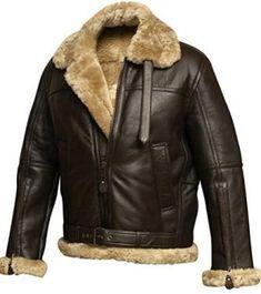 Enjoy exclusive for RAF Bomber Ginger Aviator British Sheepskin Shearling Leather Jacket online - Yournewseasonstyle Leather Jackets Online, Men's Leather Jackets, Fur Jackets, Leather Flight Jacket, Sheepskin Jacket, Aviator Jackets, Leather Men, Leather Coats For Men, Wraps