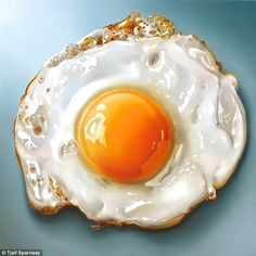 Perfectly fried egg:These stunning hyperrealistic images of food are the work of Dutch artist Tjalf Sparnaay