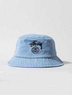 4b32f2fe882 Mens   Womens Stussy Stock Lock Embroidery Logo Golf Camp Fishing Bucket Cap  - Denim Light Blue