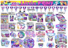 My little pony Birthday Party Printable Set...https://www.etsy.com/shop/PartyPrintLand?ref=hdr_shop_menu