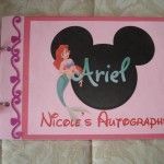 We made a homemade autograph book before our trip to Walt Disney World and the characters loved it!