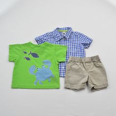 Big Fish T-shirt with Carter's Shirt and Shorts ~ Gently-Used  ~