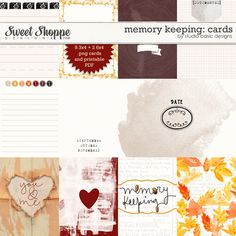 Memory Keeping: Cards by Studio Basic at Sweet Shoppe Designs