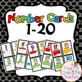 Number Cards 1-20 preschool kindergarten That Creative Teacher