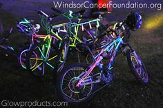 Seeds4Hope Glow Ride for WindsorCancerFoundation.org All Glow supplied by GlowProducts.com #glowbike #glowrace