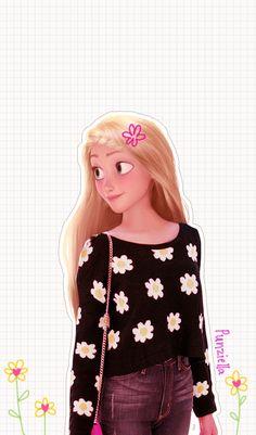 disney real rapunzel 可愛い!ディズニーキャラクター達が現代のファッションだったらという画像37枚