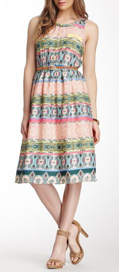 afe18f5ef98 Mixed Print Sleeveless Dress Modest Wear, Mixing Prints, Well Dressed,  Dress Patterns,