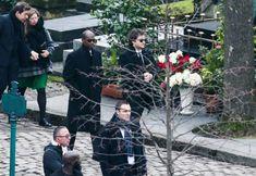 Raphael Hamburger et Bruck Dawit aux obsèques de France Gall au cimetière de Montmartre à Paris le 12 janvier 2018