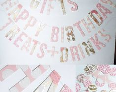 happy birthday handmade party decor banner sold on etsy by our two cubs