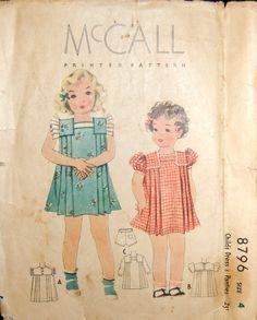 McCall 8796 | ca. 1936 Girls' Dress Pattern