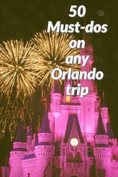 50 must-dos on any Disney/Orlando vacation! Orlando Travel, Orlando Vacation, Disney Universal Studios, Travel List, Adventure Travel, Activities, Christmas Ornaments, Random, Holiday Decor