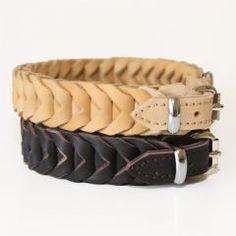 Geflochtenes Leder-Halsband aus weichem Fettleder von Klin
