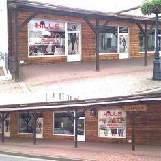 Projekt graficzny witryny sklepowej dla Hills #projektgraficzny #graphicdesign #reklamanalokalu #headofficeadvert #hills #mgraphics #buskozdroj #nadajemyksztaltypomyslom www.mgraphics.eu