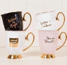 gold handle mug ceramic chloe cat coffee mug on - Cute Coffee Mugs -Source gold handle mug ceramic chloe cat coffee mug on - Cute Coffee Mugs - Cat Coffee Mug, Unique Coffee Mugs, Coffee Love, Coffee Cups, Cute Cups, Man Cave Bar, Carat Gold, Tea Mugs, Mug Designs