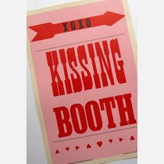 Kissing Booth Print 12x18 now featured on Fab.