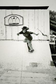 Skateboarding in backyard... our dream!