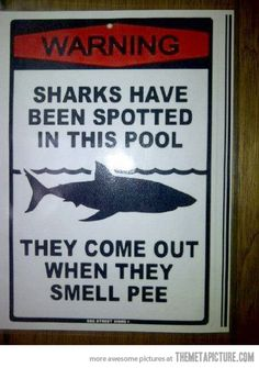 this should teach kids not to pee in the pool!
