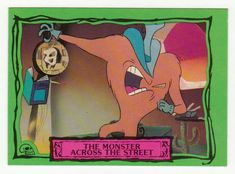 Beetlejuice Animated # 9 The Monster Across the Street - Dart Cards 1990