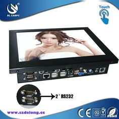 2013 New Product 10.4 Inch Industrial Fanless LCD Touch All In One MINI PC RS232