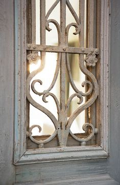Gray Painted Door :: Private Residence at The Cliffs at Lake Keowee : Linda McDougald Design Old Doors, Windows And Doors, Paris Home, Shutter Doors, Iron Gates, Painted Doors, Grey Paint, Architectural Salvage, French Country Decorating