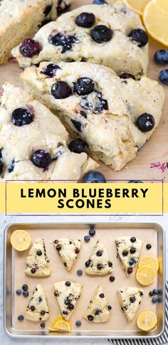 Make flaky and tender lemon blueberry scones with our easy to follow tips! These buttermilk scones are fluffy, bursting with blueberries and ready in 1 hour. Definitely the best blueberry scone recipe for summer! #lemonblueberryscones #buttermilkscones #blueberryscones #scones Easy No Bake Desserts, Delicious Desserts, Dessert Recipes, Yummy Food, Recipes Dinner, Kitchen Recipes, Cooking Recipes, Easy Cooking, Blueberry Scones Recipe