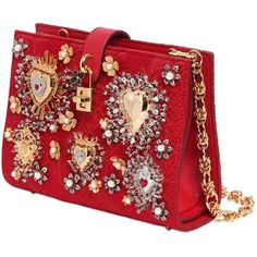 Dolce & Gabbana SS 2015 (part Dolce And Gabbana Purses, Gold Handbags, Red Handbag, Red Purses, Handbag Accessories, Red Gold, Shoulder Bag, Shoe Bag, Hand Bags