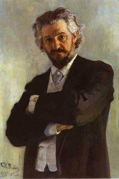 Portrait Of The Chello Player Alexander Verzhbilovich 1895 by Ilya Repin